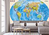 Глянцевые фотообои карта мира  разные текстуры , индивидуальный размер, фото 2