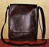 Вместительная коричневая мужская сумка без вышивки