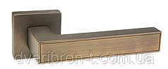 Дверные ручки Rich-Art R18H311 TBB/STBB темный кофе/светлый кофе, SN/CP никель/матовый никель.