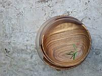 """Деревянные тарелки с элементом эпоксидной смолы """" White moon"""" 4 шт, фото 2"""