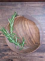 """Деревянные тарелки с элементом эпоксидной смолы """" White moon"""" 4 шт, фото 4"""