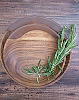 """Деревянные тарелки с элементом эпоксидной смолы """" White moon"""" 4 шт, фото 3"""