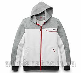 Оригинальная мужская толстовка с капюшоном Volkswagen Sweat Jacket, GTI, Men's, White/Grey (5KA084002A)