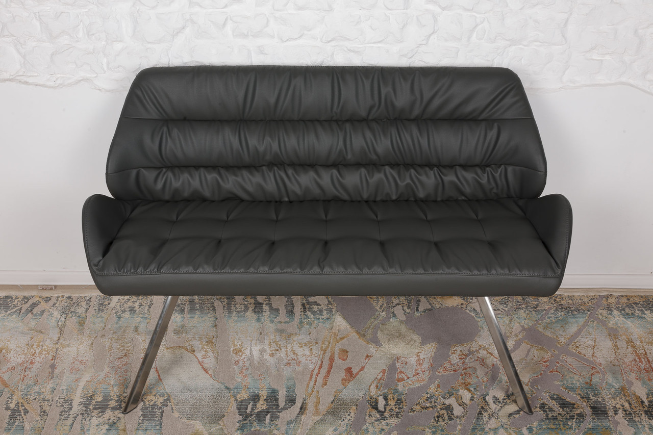 Крісло - банкетка TENERIFE (Тенеріфе) темно-сіра від Niсolas, екошкіра