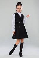 Шкільний сарафан  для дівчинки: Амина чорний