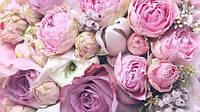 Глянцевые фотообои цветы в спальню разные текстуры , индивидуальный размер