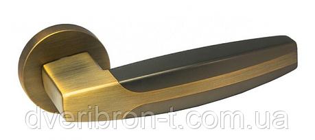 Дверні ручки Rich-Art R16H306 TBB/STBB темний кави/світлий кави, SN/CP матовий нікель/латунь., фото 2