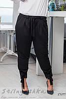 Льняные брюки большого размера черные, фото 1