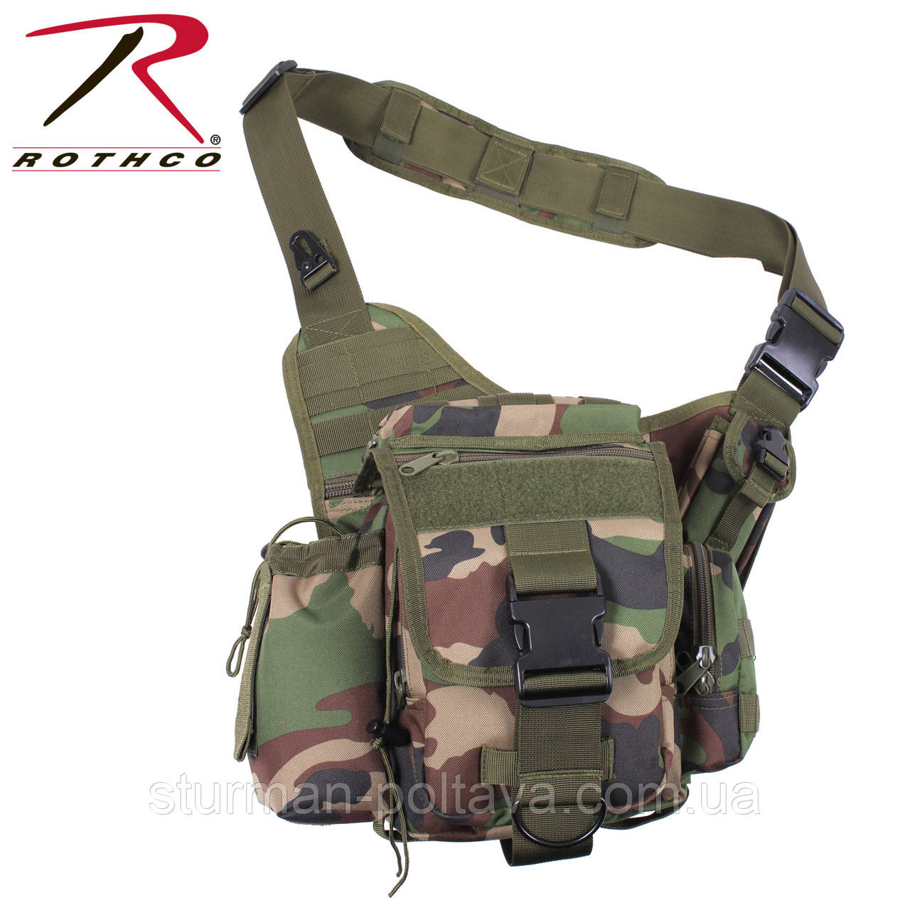 Сумка тактична вудланд ROTHCO ADVANCED TACTICAL BAG
