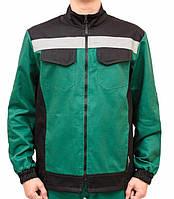 Костюм рабочий летний с брюками Алекс, зелено-черный, фото 1