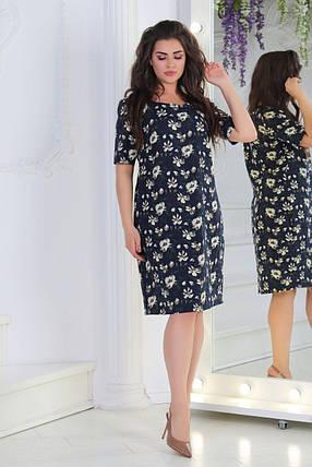 Легкое женское платье *Лен*  50, 52 размер батал, фото 2
