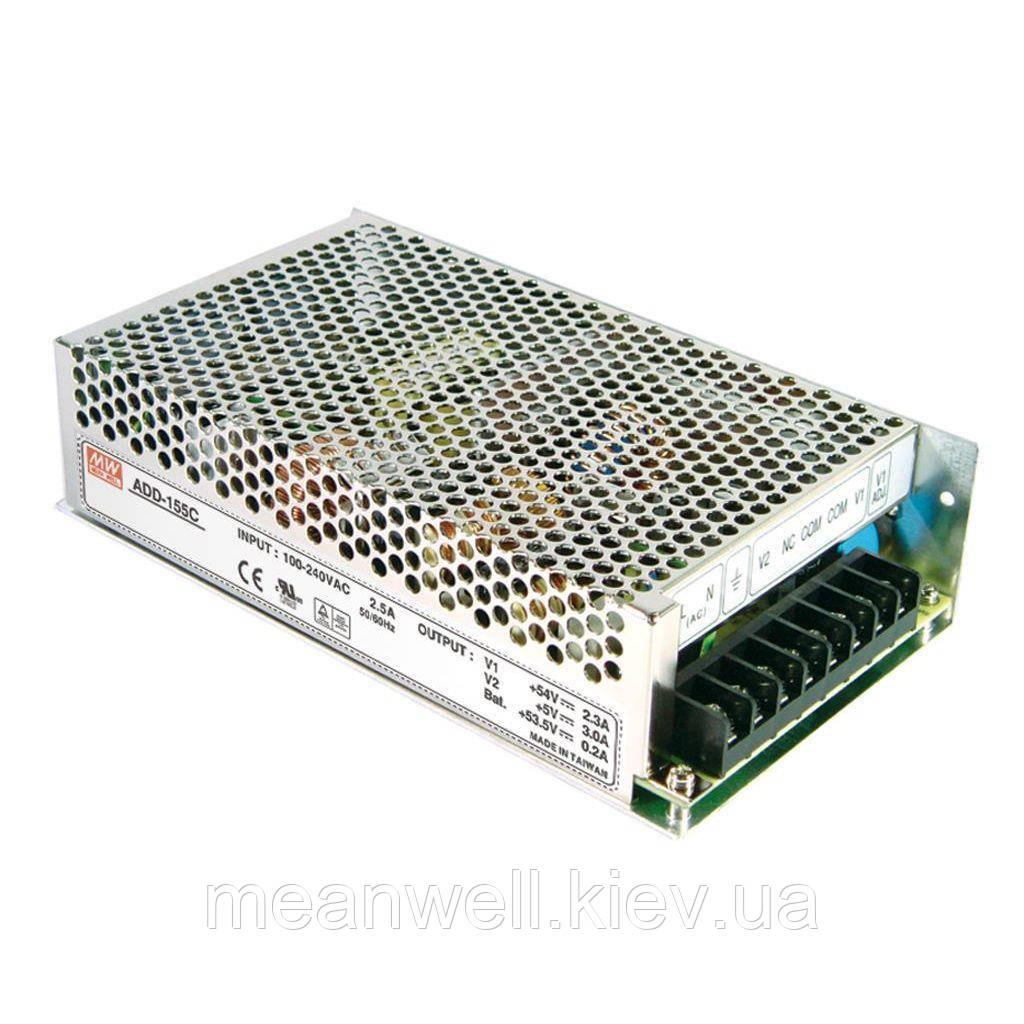 ADD-155C Mean Well Блок питания с функцией UPS 149,9Вт, ch1 - 54В/2,3А, ch2 - 53,5В/0,2А, ch3 - 5В/3А