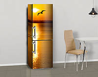 Магнитная наклейка на холодильник (виниловый магнит) 3д наклейки на холодильник, 600*1800 мм, Лицевая, фото 1