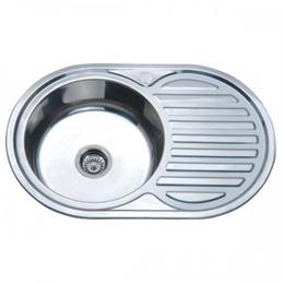Кухонна мийка врізна ZERIX Z7750-06-180E SATIN, фото 2