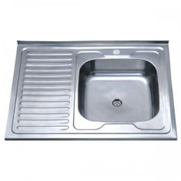 Кухонна мийка накладна ZERIX Z8060R-04-160E SATIN, фото 2