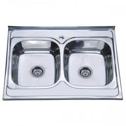 Кухонна мийка накладна ZERIX Z8060B-08-180E SATIN