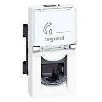 Розетка телефонная RJ11 4 контакта 1 модуль Legrand Моsaic