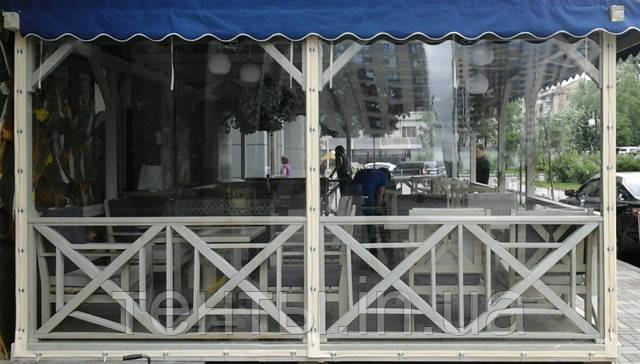 Тентовые мягкие окна ПВХ летней площадки