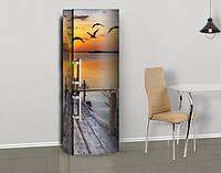 Магнитная наклейка на холодильник (виниловый магнит) Чем можно обклеить холодильник, 600*1800 мм, Лицевая, фото 1