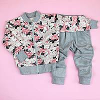 Трикотажный костюм для девочки Цветы размер 64