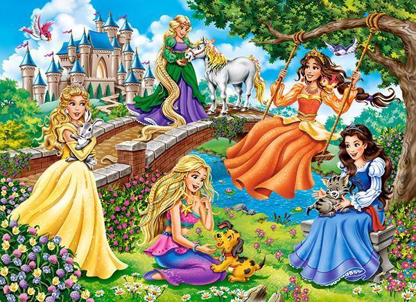 Пазлы Принцессы в саду, 70 эл.
