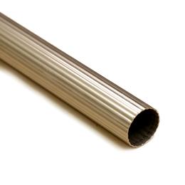Карниз труба рефленная 16мм (Антик, Сатин, Золото, Хром, Оникс) 2.4 метра, фото 2
