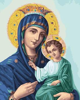 Картина по номерам Иверская божья матерь 40 х 50 см (BK-GX22600)
