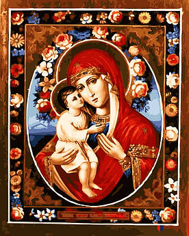 Картина по номерам Феодотьевская икона Божией Матери 40 х 50 см (BK-GX22605)