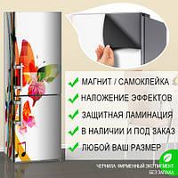 Магнитная наклейка на холодильник (виниловый магнит) Тюнинг холодильника, 600*1800 мм, Лицевая