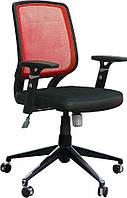 Кресло Онлайн Алюм сиденье Сетка черная, спинка Сетка красная (АМФ-ТМ)