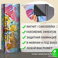 Магнитная наклейка на холодильник (виниловый магнит) Магниты на холодильник, 600*1800 мм, Лицевая