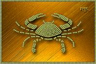 Схема для вышивки бисером Знаки зодиака. Рак КМР 5074