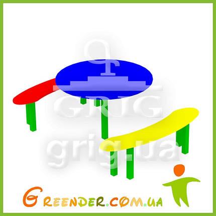 """Стіл з лавками """"Міккі"""" дитячий ігровий вуличний комплекс, фото 2"""