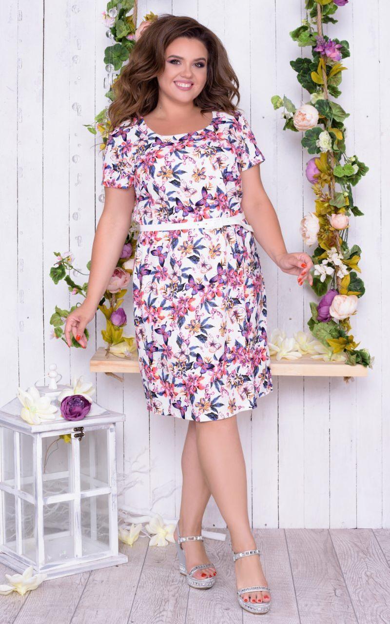 """Великолепное женское платье ткань """"Лен"""" размер 56 размер батал"""