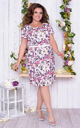 """Великолепное женское платье ткань """"Лен"""" размер 56 размер батал, фото 2"""