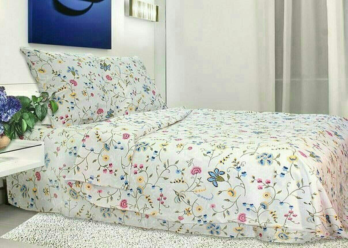 Двоспальний постільний комплект - Вишиванка в рубчик