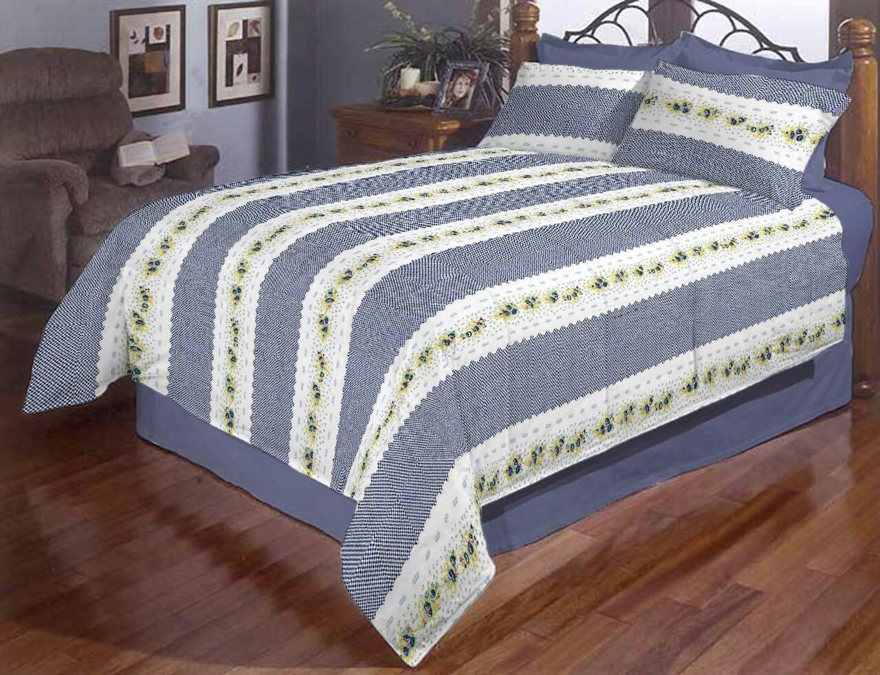 Двоспальний постільний комплект - Вишиванка в смужку