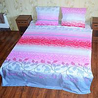 Постільна білизна бязь голд євро розміру - Грація рожева