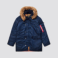 Зимняя куртка аляска Alpha Industries Slim Fit N-3B Parka MJN31210C1 (Replica Blue)