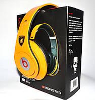 Наушники MONSTER Beats by dr.dre MUSIC HD (желтые) (replica), фото 1