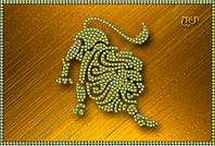 Схема для вышивки бисером Знаки зодиака. Лев КМР 5075