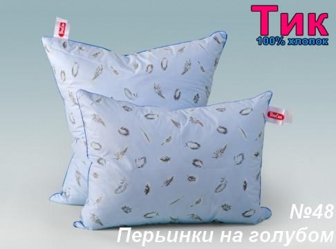 Ткань - Тік напірниковий Пірь*інки на голубому !