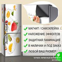 Магнитная наклейка на холодильник (виниловый магнит) Раскраска холодильник, 600*1800 мм, Лицевая