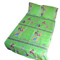 Дитяча постільна білизна в ліжечко - великі феї на зеленому
