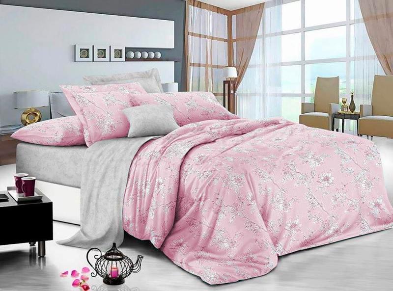 Тканина бязьGold -Квіти на рожевому компанія