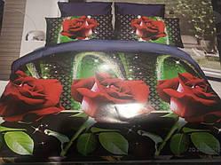 Євро комплект постільної білизни 3D Софія Чарівні троянди