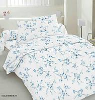 Cімейна постільна білизна Сакура блакитна