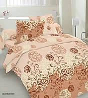 Півтораспальний постільний комплект - Сніжинка коричнева