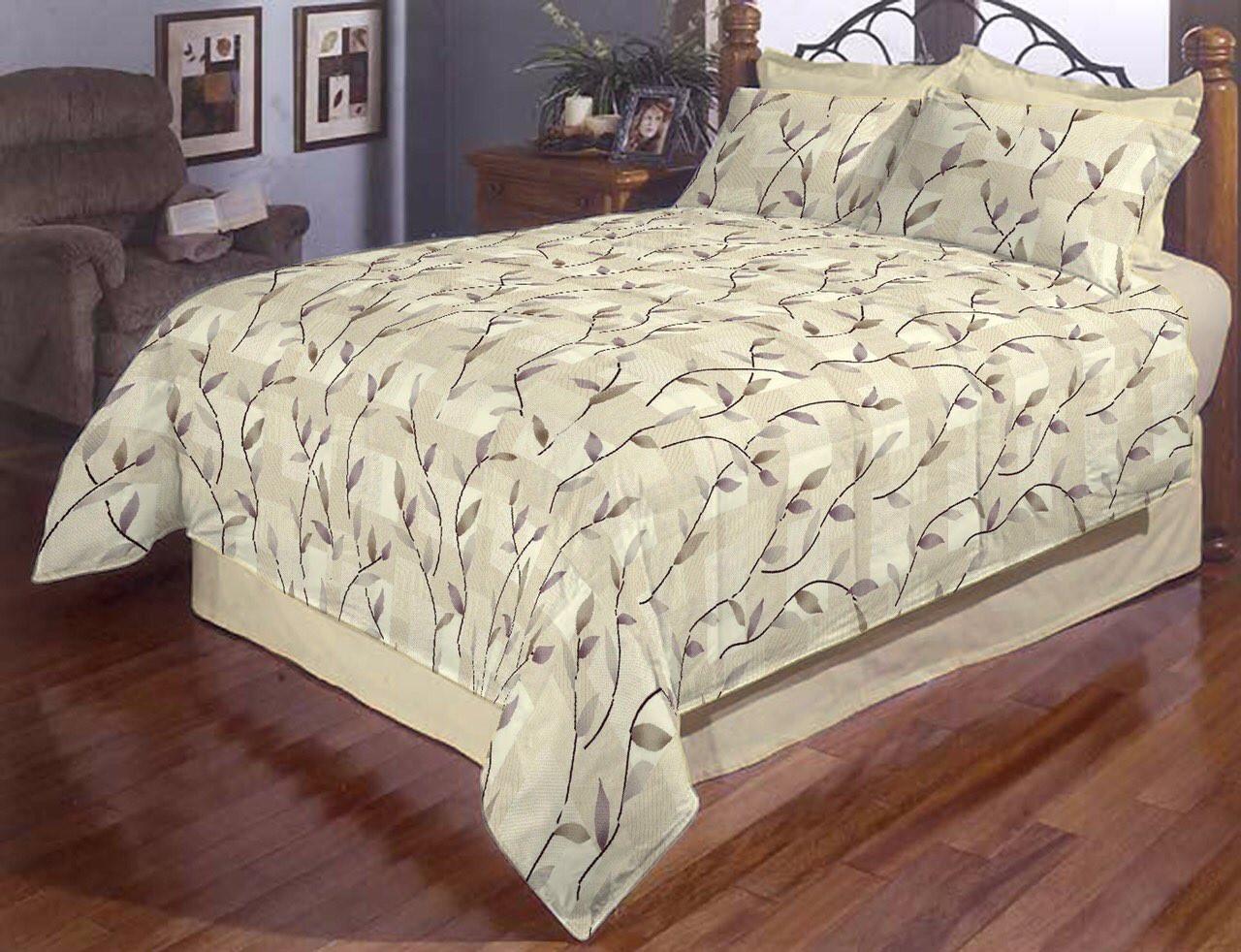Двохспальний постільний комплект - Листочки