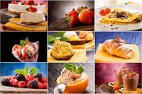 Глянцевые фотообои для кухни разные текстуры , индивидуальный размер